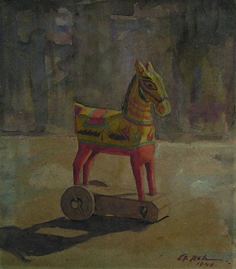 "Gobardhan Ash's ""Wooden Horse"""