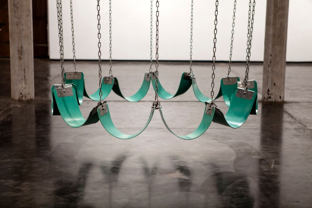 Neha Choksi and Rachelle Rojany, ''Swing for friends'' (used in 'Faith in friction'), silicon rubber and stainless steel, unique prop, 2017